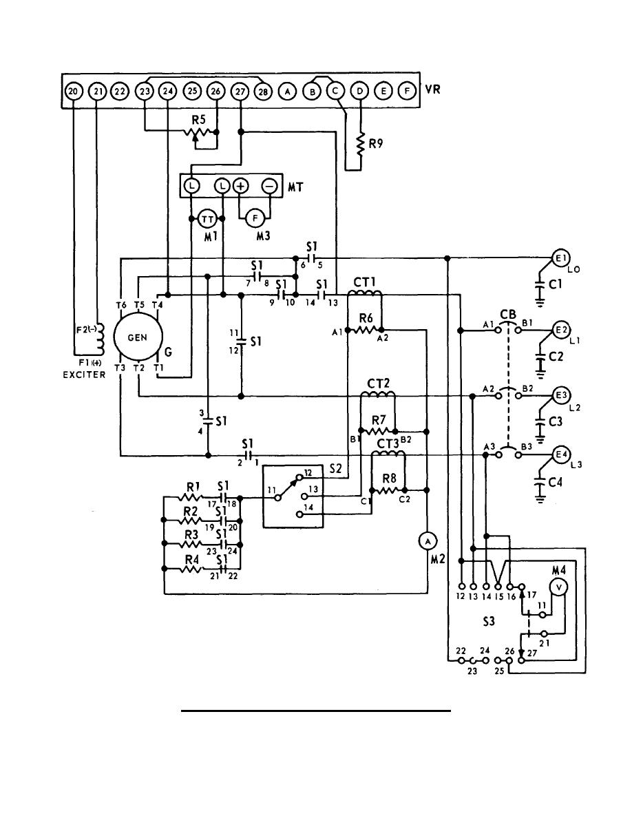 generator schematic diagram 3kw  60hz  ac