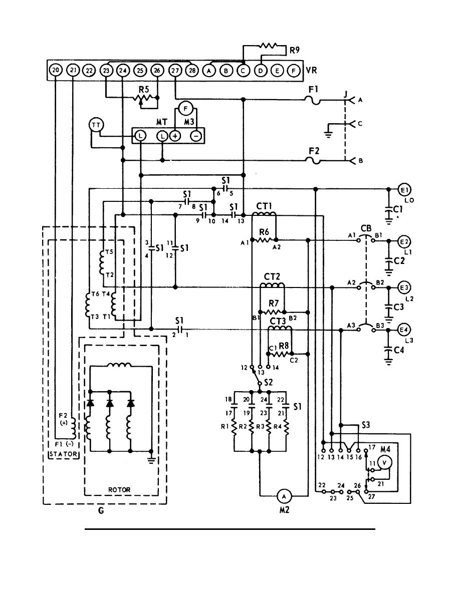 Generator Schematic Diagram 3kw 40uhz Ac Model Mep 021aj Tm 11 5840 217 34 1