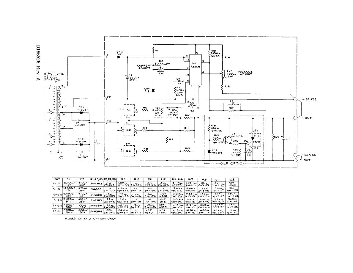 Figure 7 Power Supply, PSI, Schematic Diagram